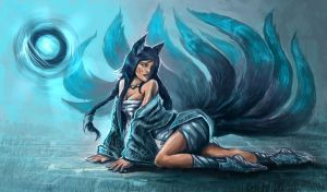 Ahri the Nine Tails Fox Skin by zepher234