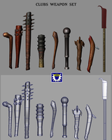 Weapons Pack 2 - Clubs by BlueSerenity