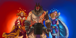 DOTA 2 - The Best Trio by mortinfamiART