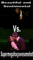 AVPM vs. Harry Potter Kiss by frozendreams99