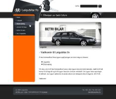 Rent a car design by outlines