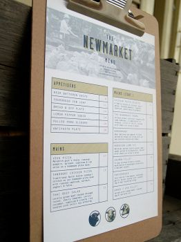 The Newmarket Hotel Menu Concept by BRENDANakaSNOOPY