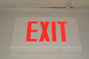 Exit Sign stock by asphyxiate-Stock