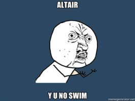 Altair Y U NO by MamaCockroach