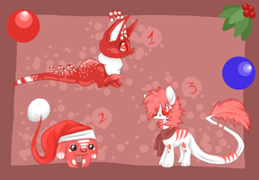 CHRISTMAS Adoptables (Closed) by GGFOX22