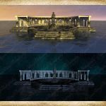 Temple Premade Background Set by Just-A-Little-Knotty