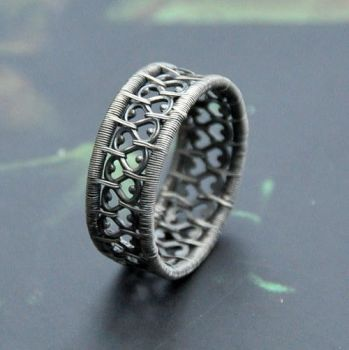 Lace ring by Eire-handmade
