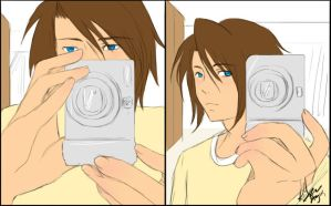 Squall Leonhart: Self Portrait by SchizoCheese