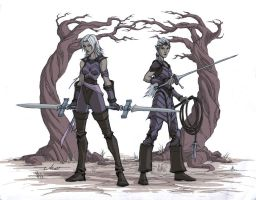 Dark Elf Assassins by warp-zero