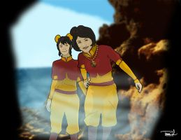 Ikki and Jinora-Sisters Adventures by tsbranch