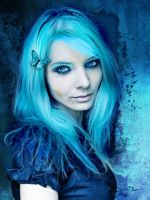 Blue Butterfly by Bible-of-the-poor