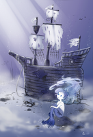 Ghostship and Mermaid by Eamanelf