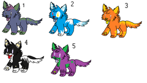 moar wolf adopts by waggyadopts