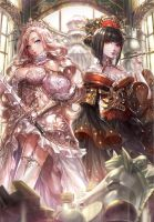 White Queen and Black Queen by hotpppink