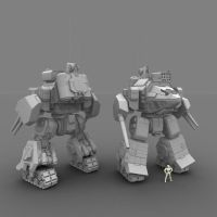 W.i.P6: Assault Mech by AceDarkfire