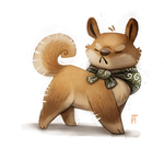 Day 520. Shiba Inu Quickie by Cryptid-Creations