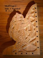 Viking Style Woodcarved Bookshelf - Week 13 by Eonari