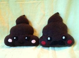 Little Miss and Little Mr. Poo plushies by XOFifi