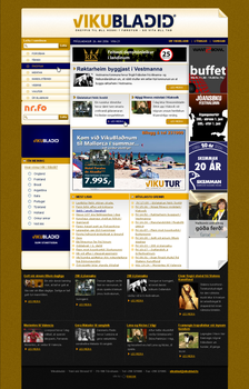 Newspaper web site by outlines