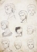 Zoro's sketches by TaiyoHisakawa