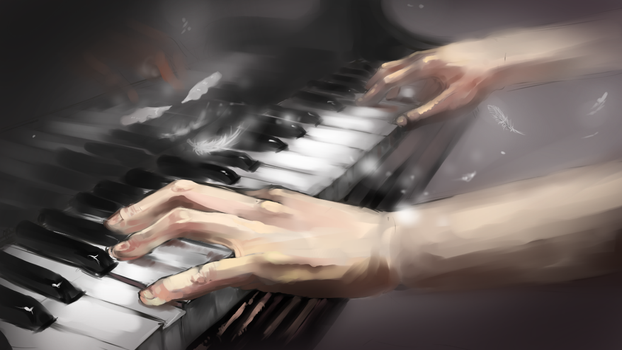 Wings of Piano by allenerie