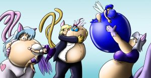 Kitties and Ballooned Faeries by Thiridian