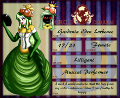 Circus Darkrai Application: Gardenia Lorbence by The9Tard