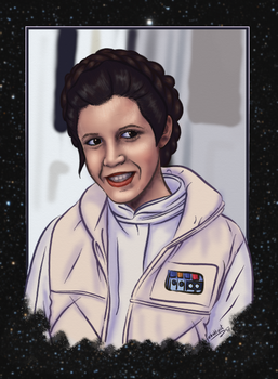 Princess Leia by Farbaktivist