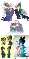 ROTG doodles and sketches - Rainbow Snowcone by Sardiini