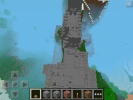 My Castle in my brothers minecaft on ipod by Angryspacecrab