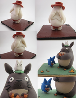 Daikon and Totoro Figurine by CloudyKasumi