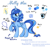 Shelly Blue - Reference Sheet by Fayven