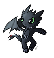 Chibi Toothless by Phytias