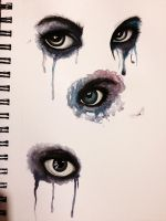 Eyes - watercolors by EmjaeSnow