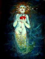 mermaid with stolen heart by Sugil