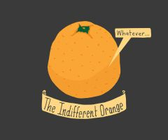 The Indifferent Orange by LetsMakeArt
