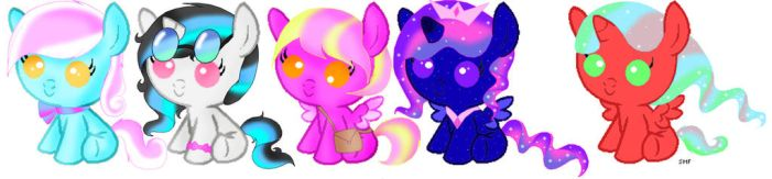 5 Foals. trade only by ScarletValkyrie