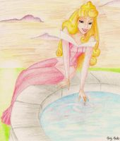 Aurora at the Fountain by sciencegal