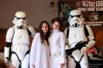 Padme and Leia between two stormtrooper by V-kony