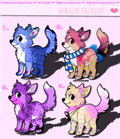 Set 1 Colorful Adopts! OPEN. by vanillaadog