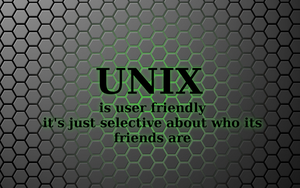 UNIX is user friendly by lalitpatanpur