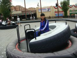 I'm riding one of Luigi's Flying Tires by Magic-Kristina-KW