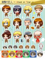 Attack on Titan  chibi 01 by moonu17