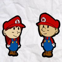 lucahjin and ncs in paper mario style by annika11112
