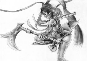 Akali the Ninja by HydraSlash