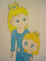 Queen Misty and Princess Saphi by 15PrincessAutumn15