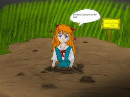 Asuka in Quicksand Colored by Lady-of-Mud