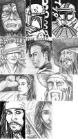 Sketch cards 1 by JediSeeker1