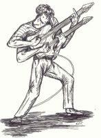 Guitar player by Inzelique