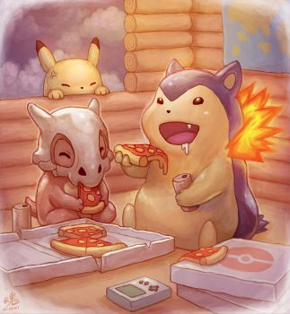 Pizza Time by Ry-Spirit